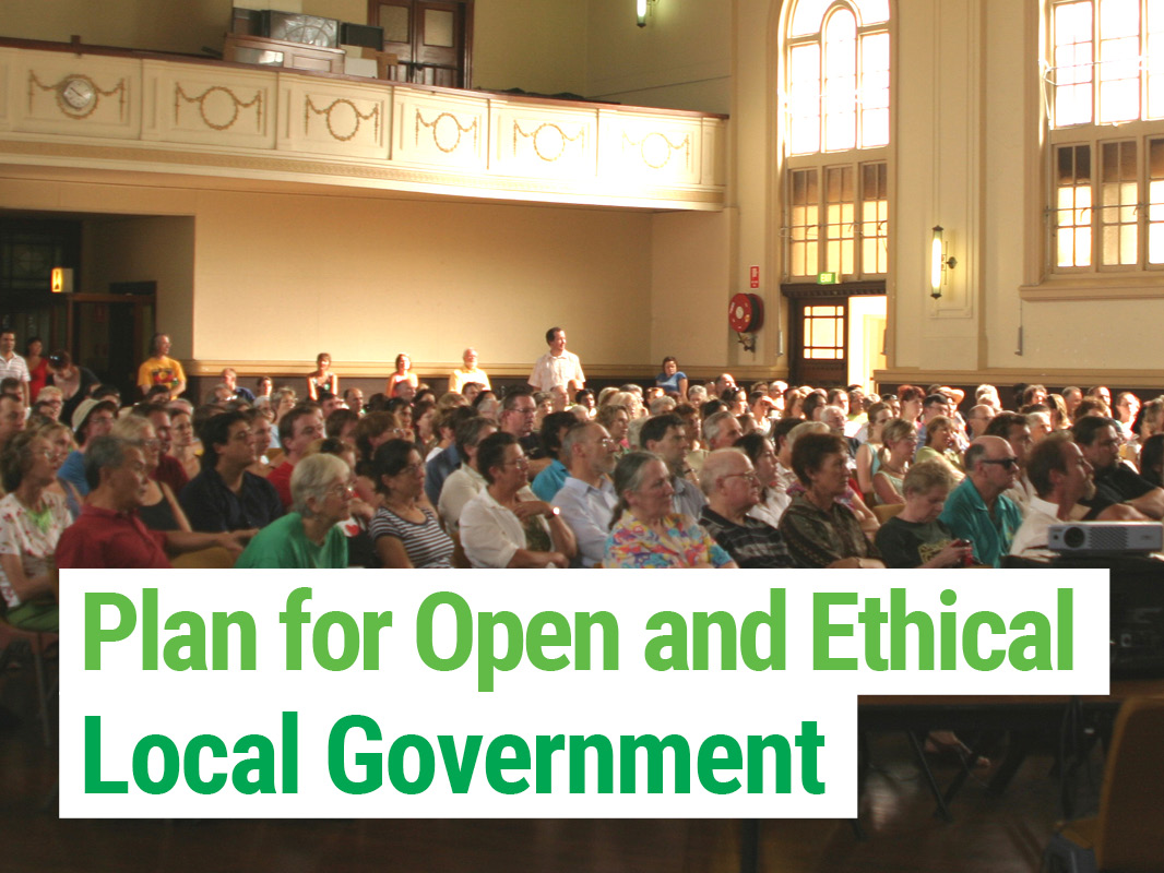 The Greens Plan for Open and Ethical Government