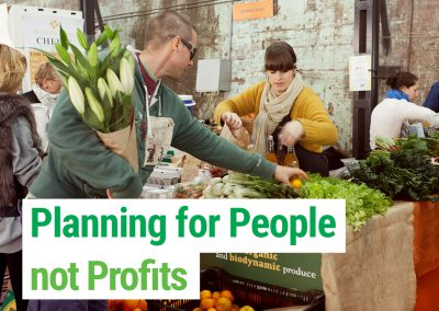 Planning for People not Profits