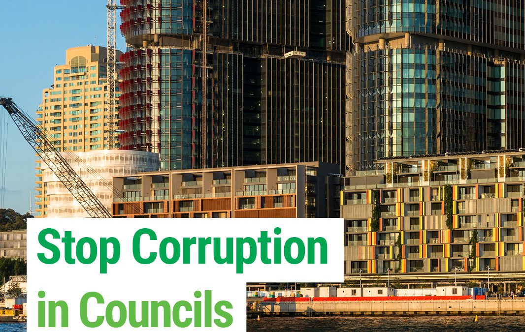 Greens on Council Say No to Corruption