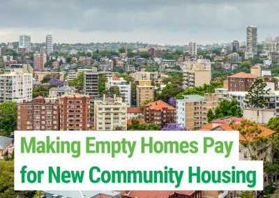 Making Empty Homes Pay for New Community Housing