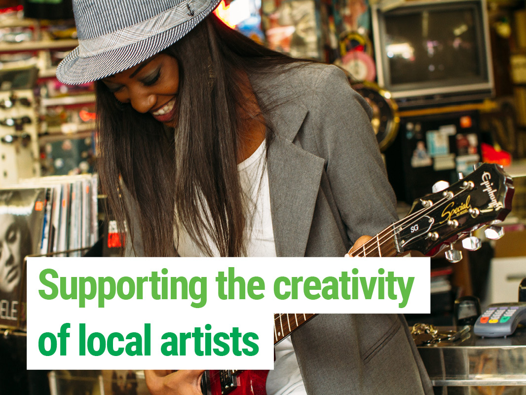 Supporting the creativity of local artists